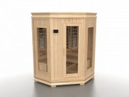Traditional steam sauna house 3d model