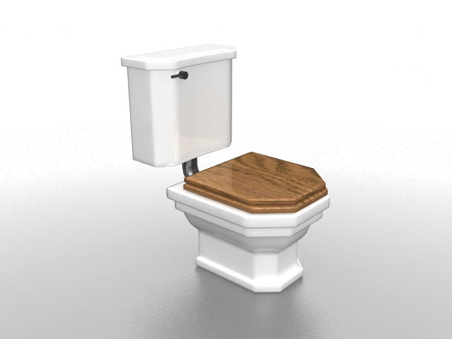 Old fashion toilet 3d model 3ds max files free download modeling