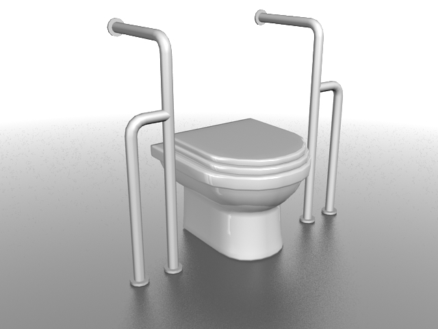 Handicap toilet 3d model 3ds max files free download modeling