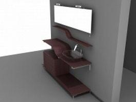 Home bathroom vanity 3d model