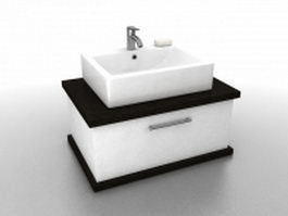 Small wash basin cabinet 3d model