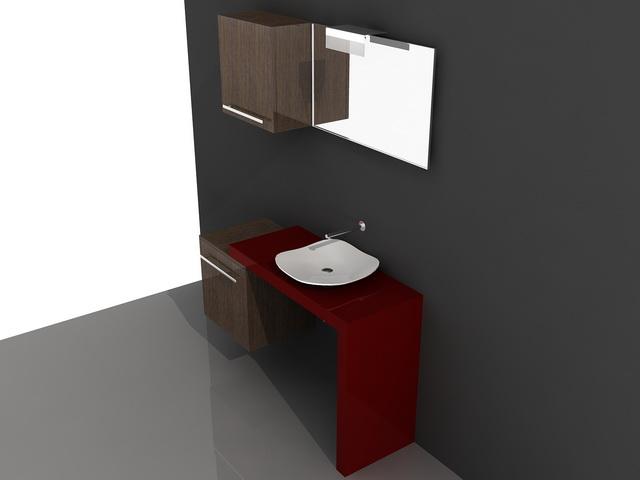 Bathroom Vanity Set 3d Model 3d Studio 3ds Max Autocad Drawing Files Free Download Modeling