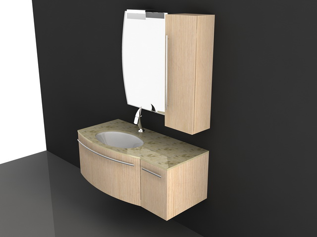 Wall Mount Bathroom Vanity Cabinets 3d Model 3d Studio 3ds