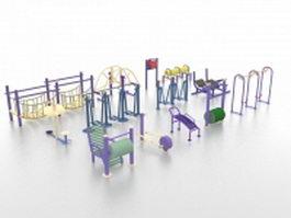 Domestic playground equipment 3d model