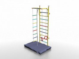 Swedish ladder wall 3d model