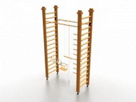 Swedish bars exercise equipment 3d model