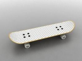 White skateboard 3d model