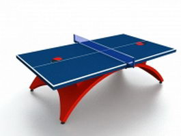 Indoor table tennis table 3d model