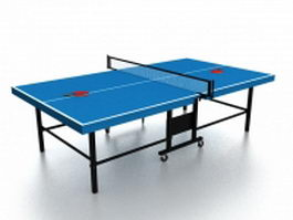 Folding ping pong table 3d model
