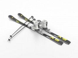 Ski equipment 3d model