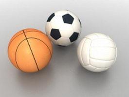 Sports balls 3d model