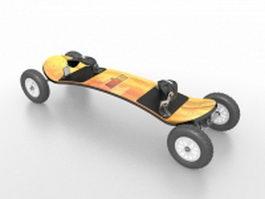 Longboard skateboard 3d model