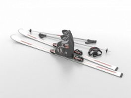 Ski set 3d model