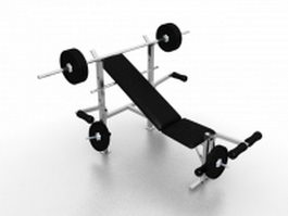 Weight bench sets 3d model