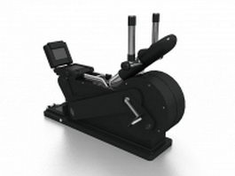 Elliptical trainer machine 3d model