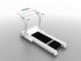 Treadmill machine 3d model