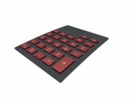 Calculator keyboard 3d model