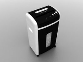 Paper shredder with built-in wastebasket 3d model