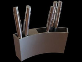 Pen holder for desk 3d model