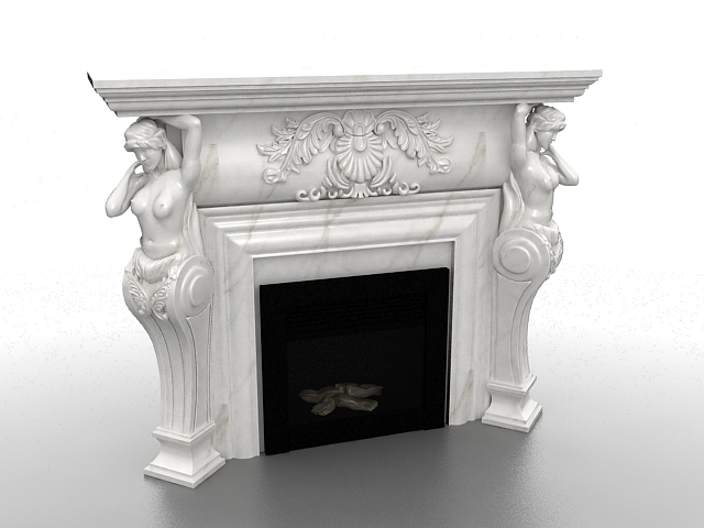 Roman Sculpture Fireplace 3d Model 3ds Max Files Free
