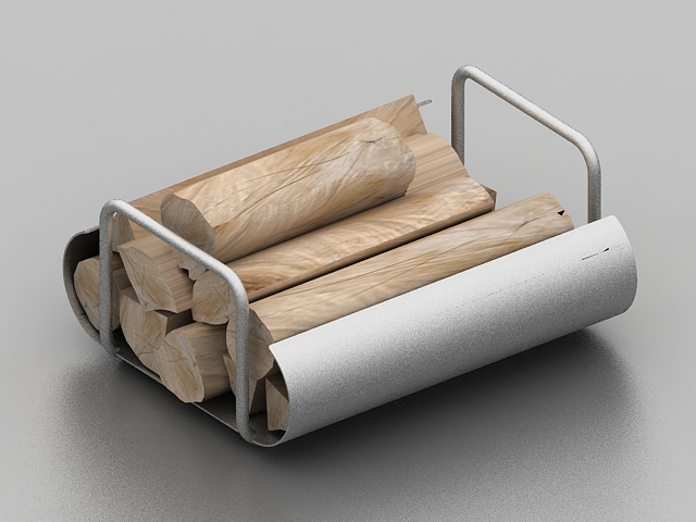 Wood Fireplace Log Holder 3d Model 3ds Max Files Free