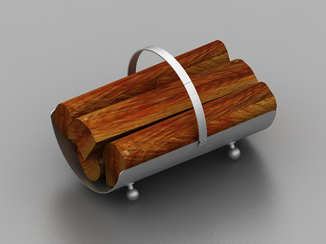 modern fireplace wood holder 3d model 3ds max files free