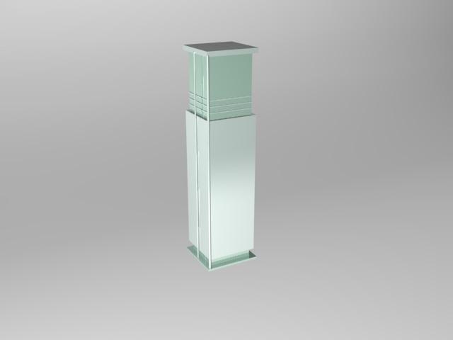 Square column interior 3d model 3d studio 3ds max files for Interior square column designs