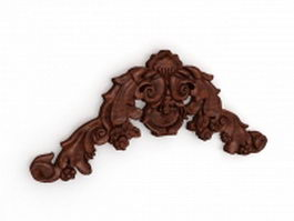 Antique wooden architectural ornament 3d model