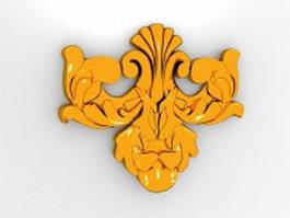 Gold architectural ornament 3d model