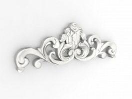 Ornamental plaster moulding 3d model