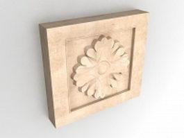 Square medallion wall art 3d model