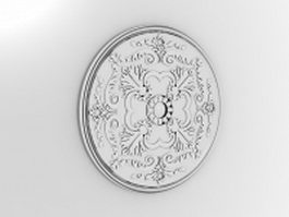 Medallion 3d model free download for Architectural medallions exterior
