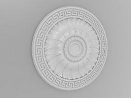 Wall flower medallion 3d model