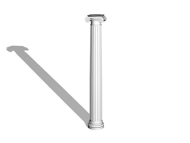 Greek Ionic column 3d model 3D Studio,3ds max files free download