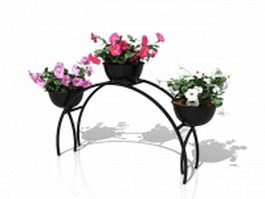 Decorative metal plant stand 3d model