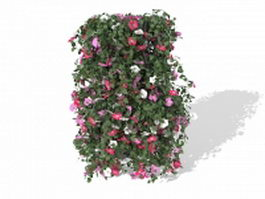 Garden flower pot arrangements 3d model