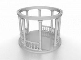 Circular pergola 3d model