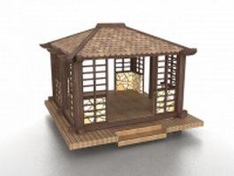 Waterside pavilion 3d model