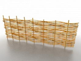 Wicker garden fence 3d model