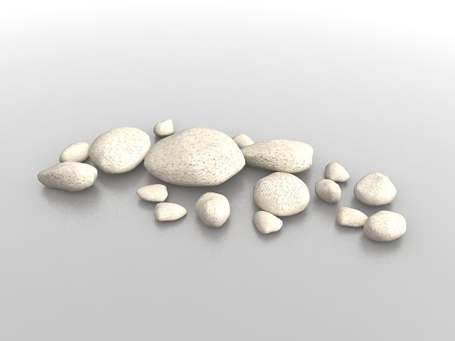 White garden rocks 3d model 3ds max files free download for Garden design in 3ds max