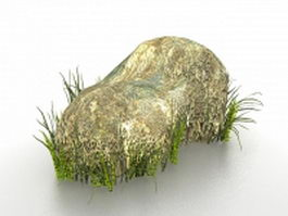 Rock grass for andscaping 3d model