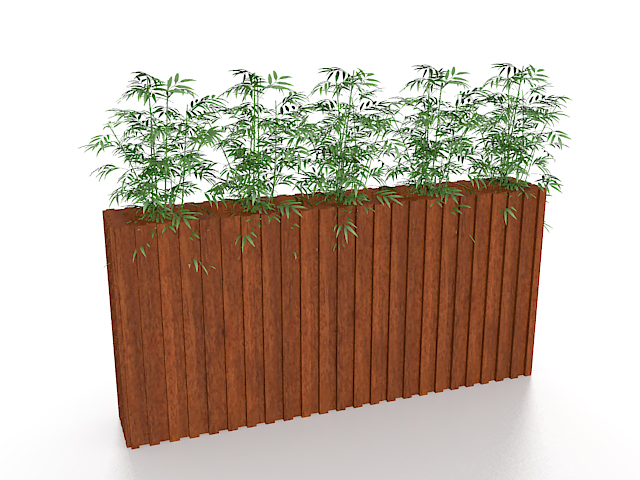 Bamboo In Planter Box 3d Model 3ds Max Files Free Download