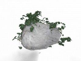 Garden landscaping rocks 3d model
