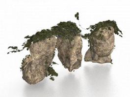 Large rocks for garden landscaping 3d model