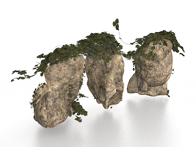 Large rocks for garden landscaping 3d model 3ds max files for Garden design in 3ds max