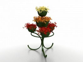 Outdoor tiered plant stand 3d model