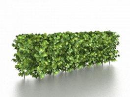 Landscape hedges shrubs 3d model