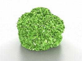 Topiary shrubs 3d model