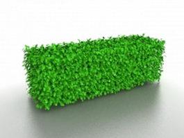 Landscape hedges and bushes 3d model