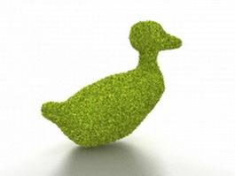 Duck topiary 3d model
